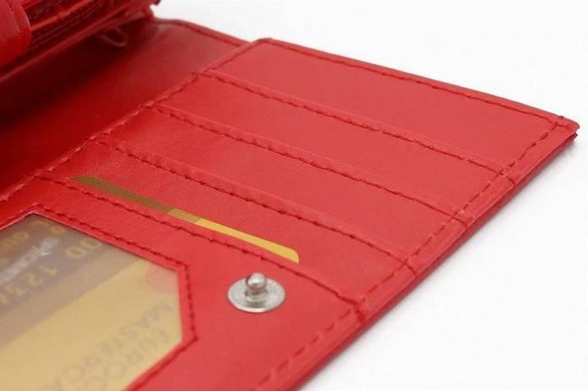 Portfel damski poziomy czerwony  309 RED 25#