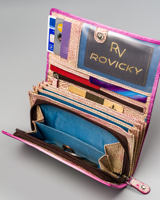 Portfel damski różowy Rovicky  R-N22-ART-15 PINK