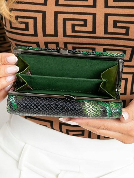 Portfel damski skórzany RFID Lorenti 55020-MSN zielony