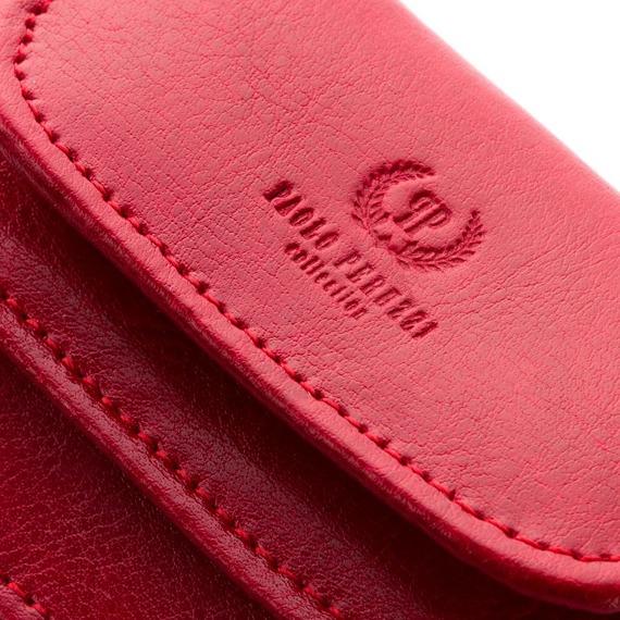 Portfel damski skórzany czerwony Paolo Peruzzi L-08-PP
