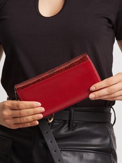 Portfel damski skórzany lakierowany czerwony Cavaldi