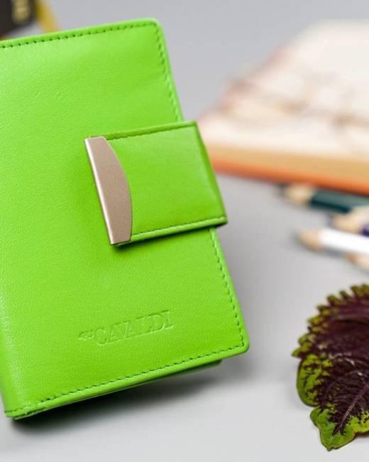 Portfel damski zielony Cavaldi RD-04-GCL MINT