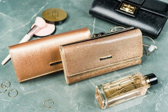 Portfel damski złoty Lorenti 72064-SH-RFID GOLD