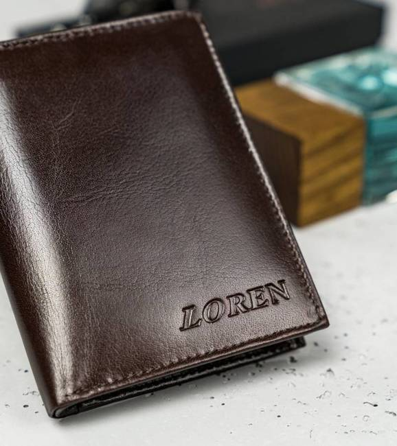 Portfel męski Loren brązowy RM-03-BCF BROWN