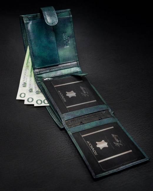 Portfel męski Pierre Cardin 8806 TILAK12 F NIEBIESKO-ZIELONY