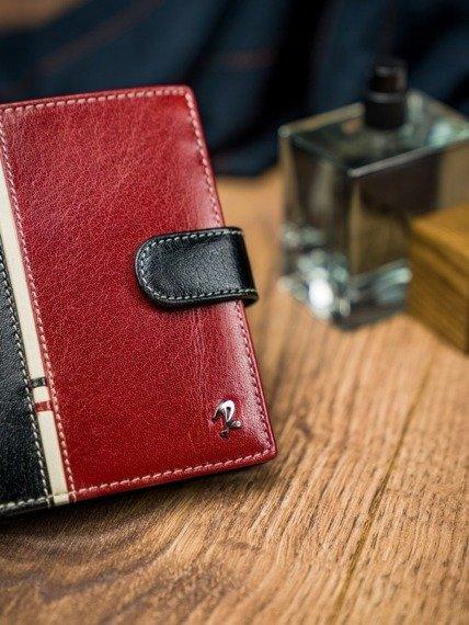 Portfel męski Rovicky 331L-RBA-D BLACK-RED czarno-czerwony