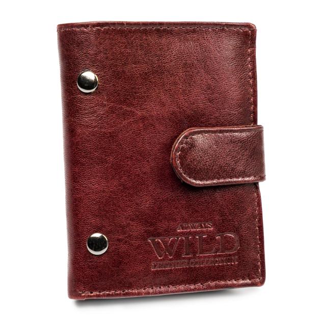 Portfel męski bordowy Always Wild  N9001L-VTK-N WINE