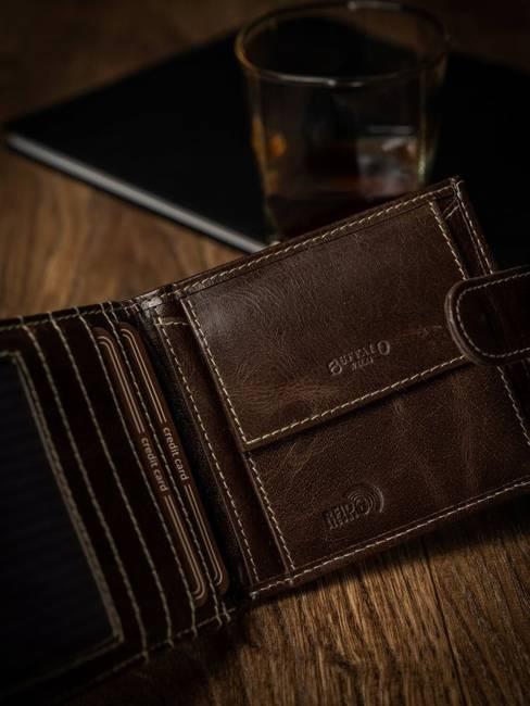 Portfel męski brązowy Buffalo Wild RM-01L-BAW BROWN