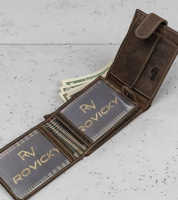 Portfel męski brązowy Buffalo Wild RM-05L-HBW BROWN