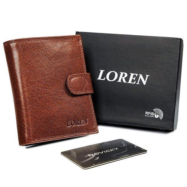 Portfel męski brązowy Loren N4L-BFL-4754 TAN-BRO