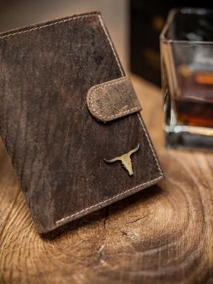 Portfel męski brązowy RFID Buffalo Wild RM-04L-BAW TAN