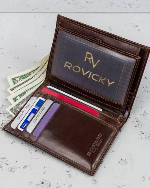 Portfel męski brązowy Rovicky N74-RVT BROWN