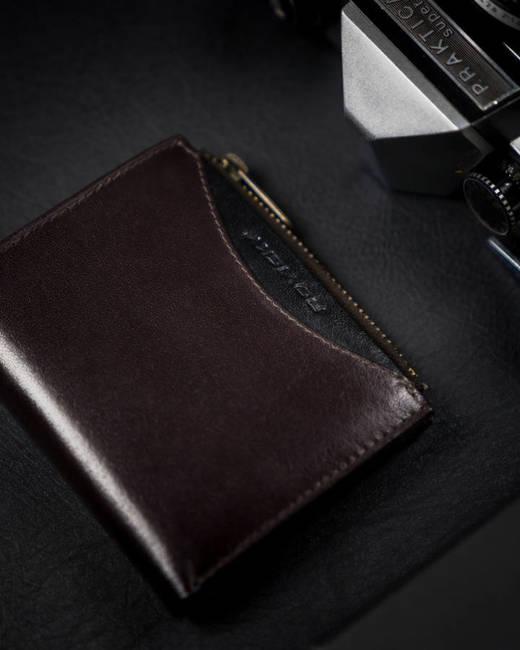Portfel męski brązowy z czarną wstawką Rovicky 1006-03-BOR-1126 BRO