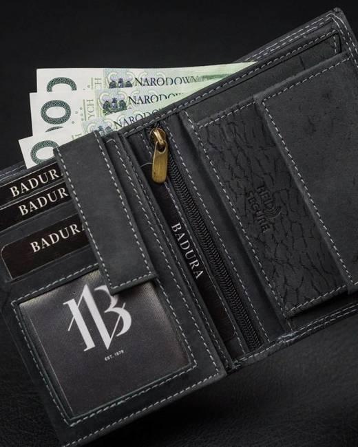 Portfel męski czarny Badura N104-MH-BA BLACK