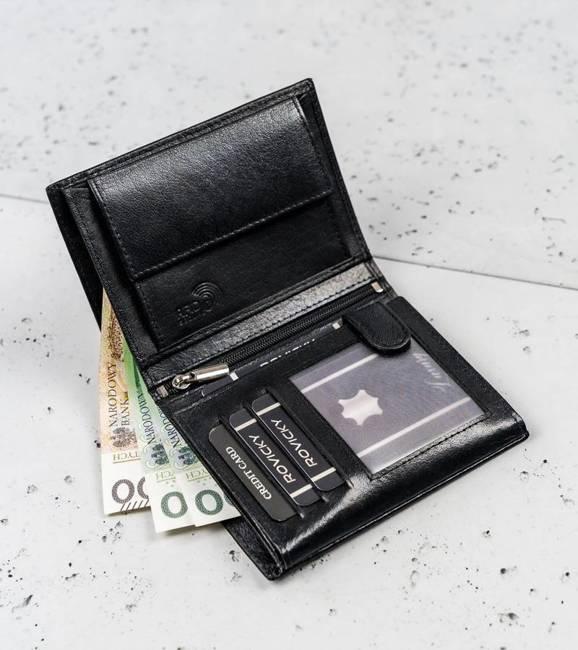 Portfel męski czarny Cavaldi N4-NAD-BOX-1465 BLAC