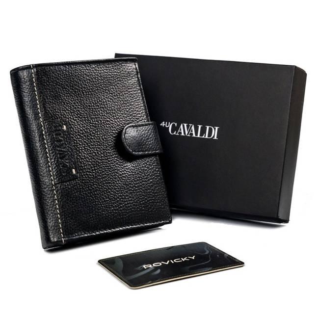 Portfel męski czarny Cavaldi N4L-TP-1557 BLACK
