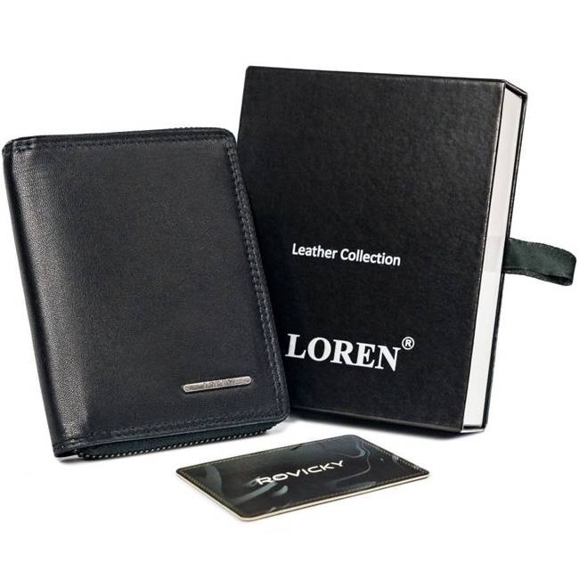 Portfel męski czarny Loren GRM-70-01Z BLACK