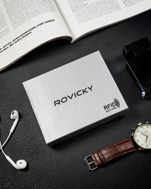 Portfel męski czarny Rovicky 756699-BAR-6910 BLAC