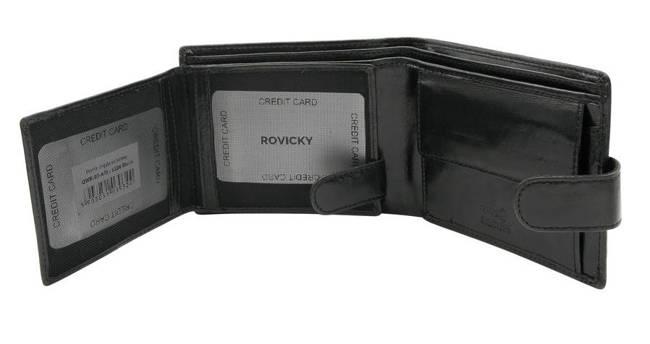 Portfel męski czarny Rovicky GWR-02-ARI-9324 BLAC