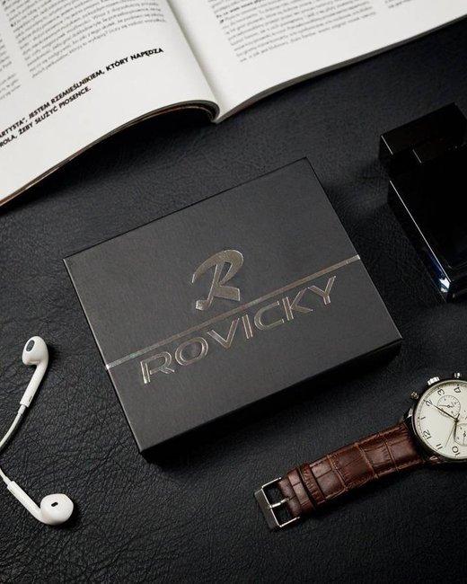 Portfel męski czarny Rovicky N4L-CMC BLACK