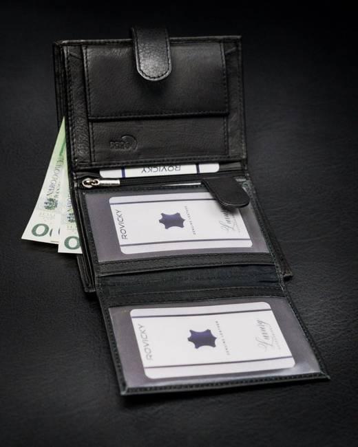 Portfel męski czarny Rovicky  N4L-PZ-CCR-RFID-BLAC