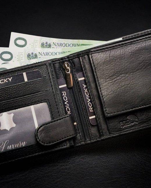Portfel męski czarny Rovicky N61-PZ-CCR-RFID-2579