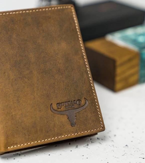 Portfel męski j. brązowy Buffalo Wild RM-04-HBW TAN