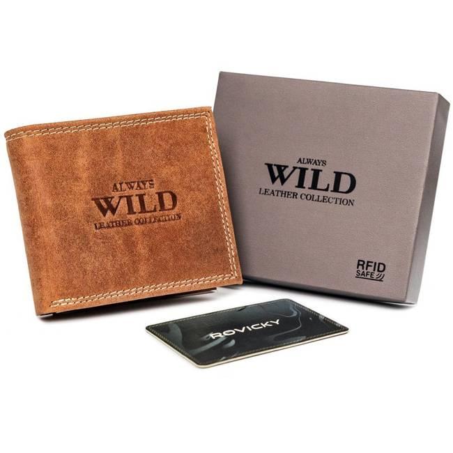 Portfel męski koniakowy Always Wild N0035-CHM-8717 COGNA