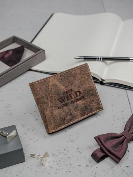 Portfel męski skórzany Always Wild RMH-03 brązowy
