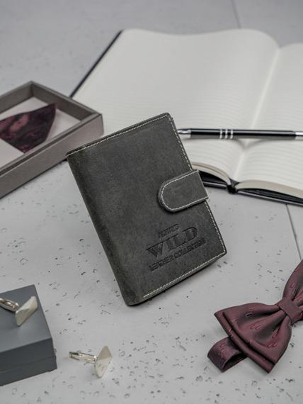 Portfel męski skórzany Always Wild RMH-04L czarny