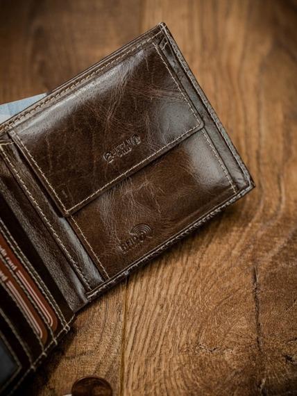 Portfel męski skórzany RFID Buffalo Wild brązowy