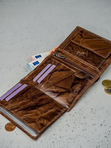 Portfel męski skórzany RFID Always Wild N4-BC brąz
