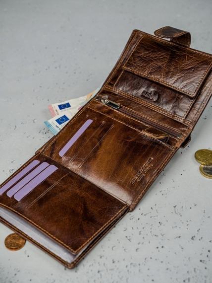 Portfel męski skórzany RFID Always Wild N4L-Bc brąz