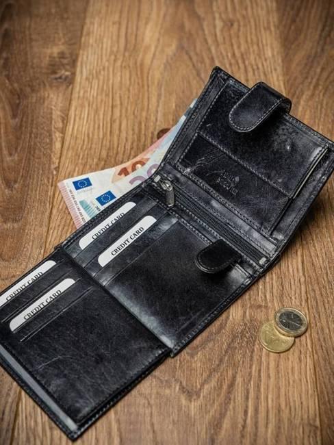 Portfel męski skórzany RFID Pierre Andreus N4L-VT-NL czarne