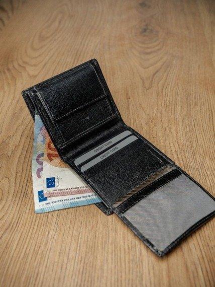 Portfel męski skórzany RFID Rovicky czarny
