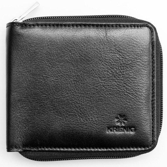 Portfel skórzany męski KRENIG Classic 12059 czarny