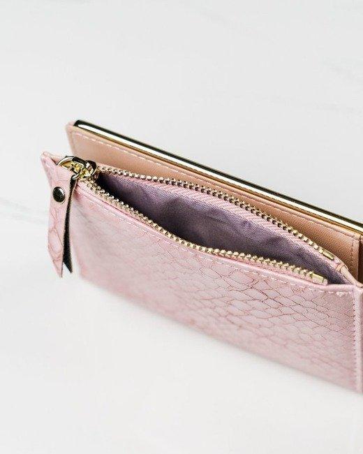 Portmonetka damska różowa Milano Design K1212