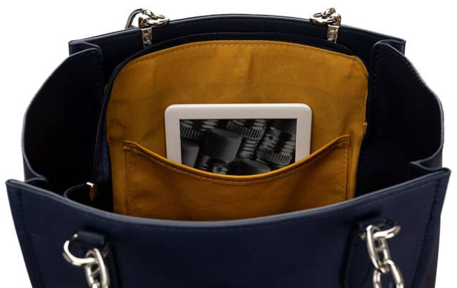 Prostokątny shopper granatowy David Jones CM5719 D.BLUE