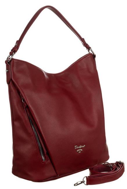 Shopper bag bordowy David Jones 6607-1A DARK RED