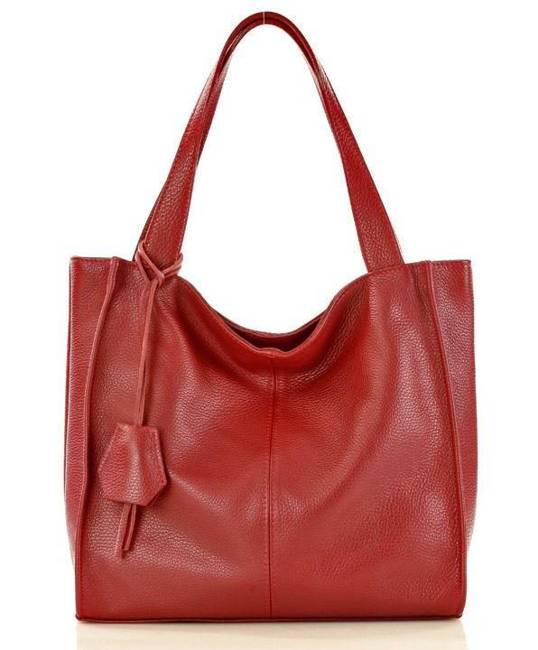Shopper bag bordowy MAZZINI  s139b
