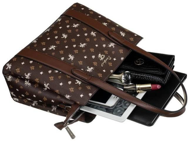 Shopper bag c. brązowy David Jones CH21003 D.BROWN