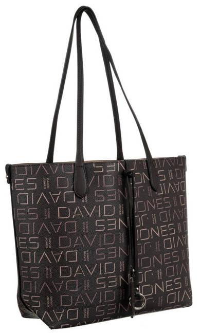 Shopper bag c. brązowy print David Jones 6534-2 D.BROWN