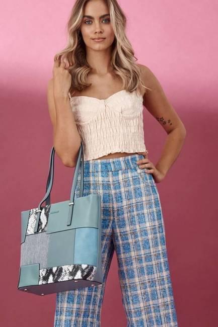 Shopper bag niebieski David Jones 6279-2 BLUE