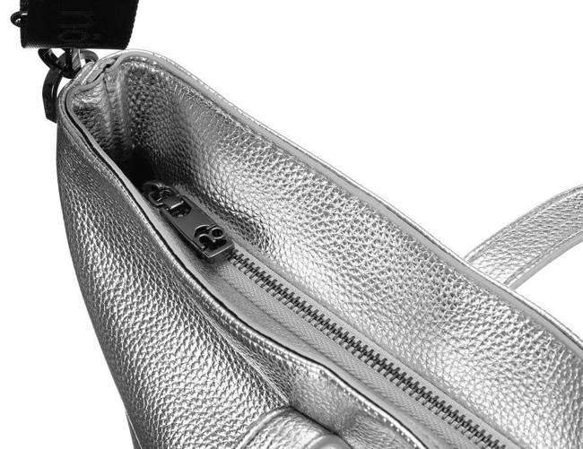 Shopper bag srebrny Nobo NBAG-K3930-C022