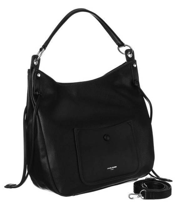 Shopper damski czarny David Jones CM6073 BLACK