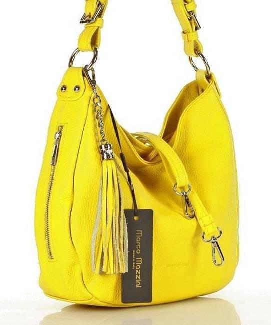 Shopper damski żółty MARCO MAZZINI s226i