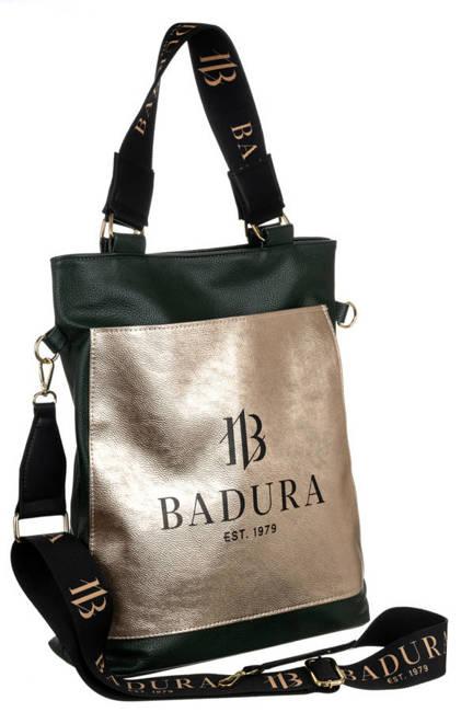 Shopperka c. zielona, złota kieszeń Badura T_D134ZI_CD
