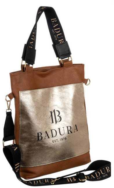 Shopperka kamelowa, złota kieszeń Badura T_D134CA_CD