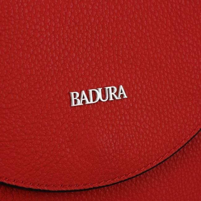 Skórzana listonoszka damska czerwona Badura T_D219CR_CD