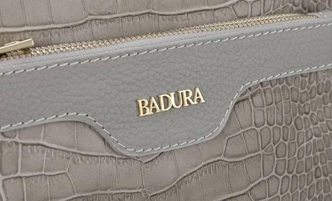Skórzana listonoszka damska szara Badura T_D221SZ_CD